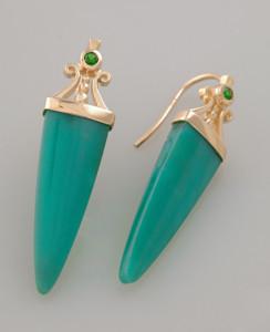 European design Colombian emeralds